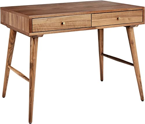 Rivet Classic Desk, 37.4 W, Walnut