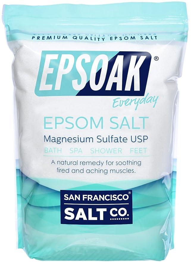 Epsoak Epsom Salt 19lbs Magnesium Sulfate USP Resealable Bulk Bag: Amazon.es: Belleza