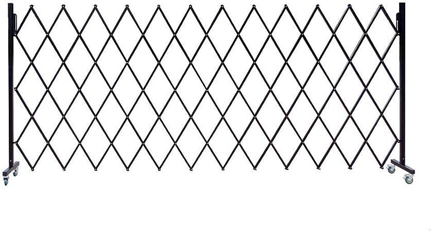 Retráctil Puerta de la Cerca La expansión Exterior retráctil Tráfico Valla Flexible Barrera de Seguridad (Color : Black, Size : 4x1.7M): Amazon.es: Hogar