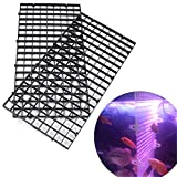 FUNDIY Grid Separate Divider Tray Egg Crate Aquarium Fish Tank Filter Bottom Isolate Board Net Black Whit