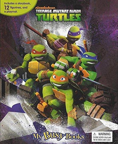 Teenage Mutant Ninja Turtles My Busy Book With Figurines and Playmat ()