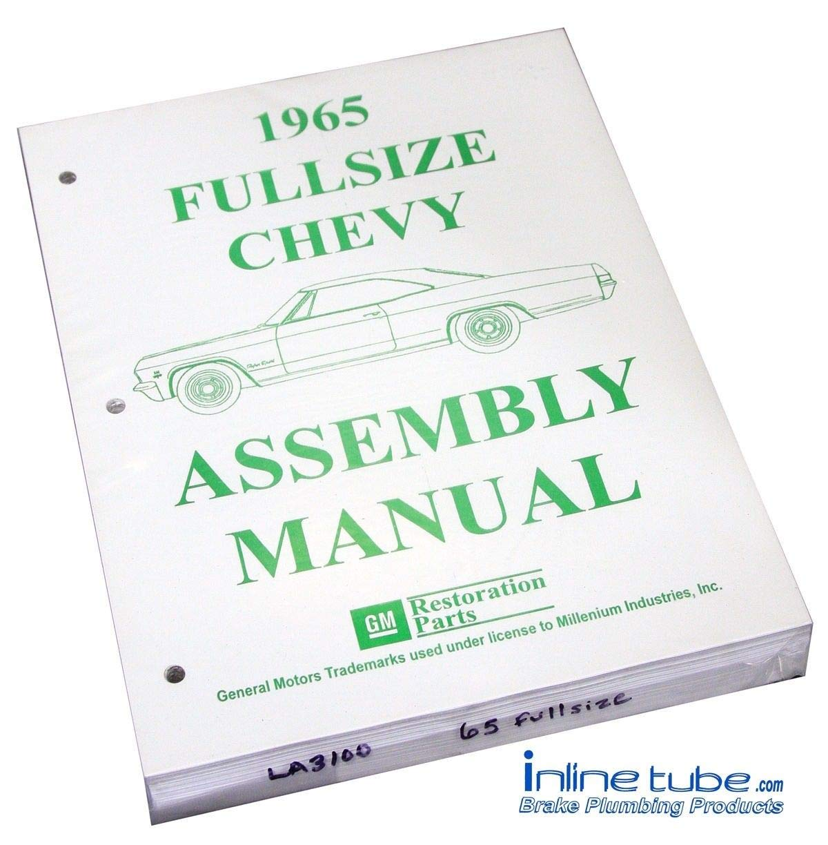 Fine 1965 Chevrolet Full Size Passenger Car Parts Assembly Manual Wiring 101 Cranwise Assnl