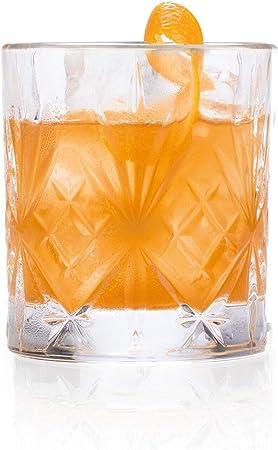 Comprar Juego de 6 vasos bajos de cristal de la colección Melodia de RCR para whisky de 230 ml. Modelo: 25935020006