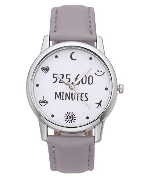 ad811976d5 MANIFO Retro Uhr Armbanduhr 526,000 Minutes Illusion Vintage Deko Muster  analog Cute Casual für Damen Frauen