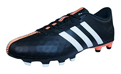 purchase cheap 564fd 75c32 adidas Performance 11 NOVA FG Black Leather Men Football Soccer Shoes