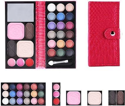 xiahbong 25 colores brillante polvo colorete Lip Tipo Cartera de maquillaje sombra de ojos paleta maquillaje: Amazon.es: Belleza