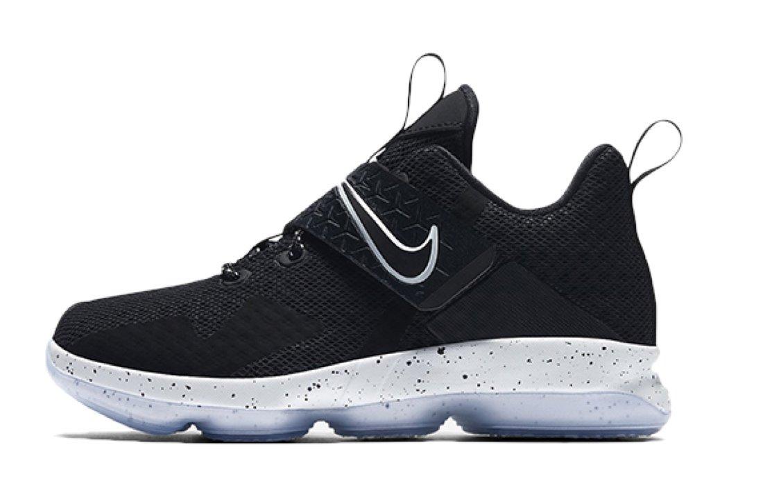 Nike LeBron XIV Basketball Shoes Sneakers (Kids') Size: 12.5c [18.5cm] (12.5C, Black/white) by NIKE