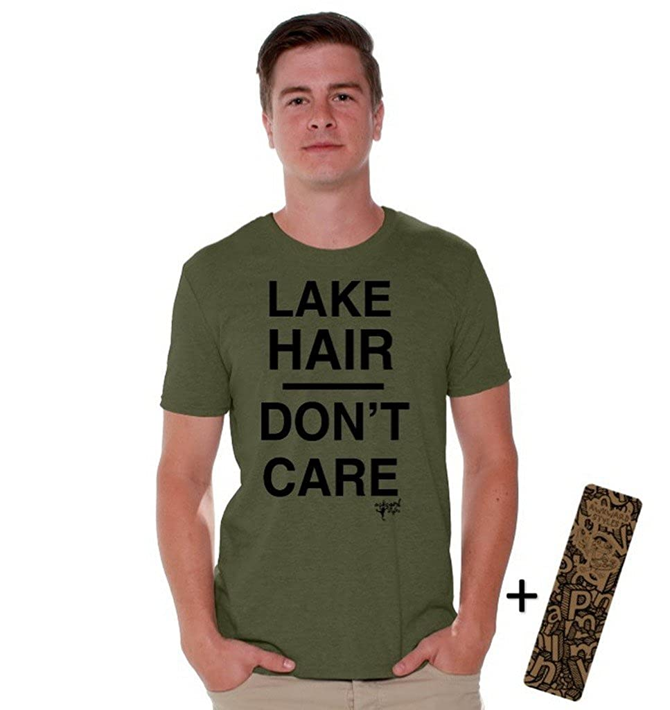 Awkwardstyles Lake Hair Don't Care T-Shirt Vacation Shirt + Bookmark