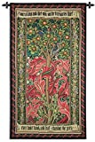 Fine Art Tapestries ''Woodpecker William Morris'' Wall Tapestry, Red