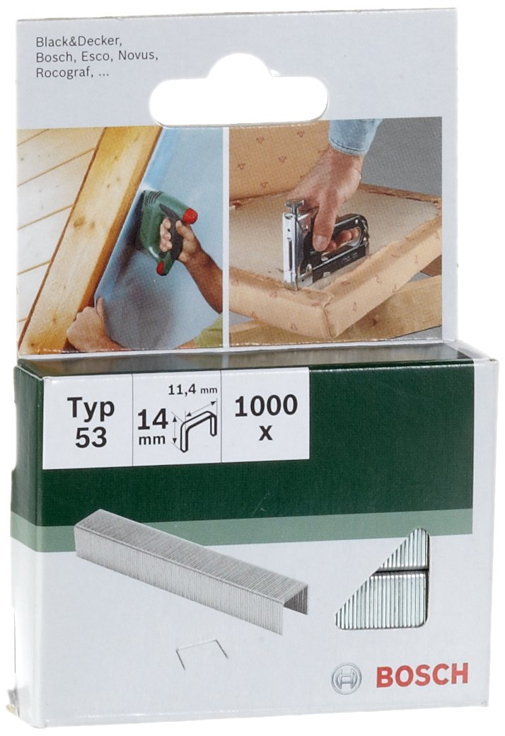 Bosch 2609255823 Agrafe 11, 4 x 0, 74 x 14 mm Type 53 Lot de 1000
