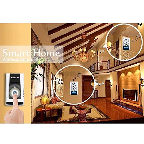 Forecum Waterproof Wireless Remote Home Door Bell 36 Chime Doorbell 2 Receivers