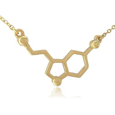 7520dfebc2cfb Clayton Online Sales COS (TM) Serotonin Neurotransmitter Molecule  Horizontal Necklace