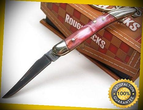 Amazon.com: Cuchillo afilado de bolsillo con clip recto ...