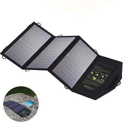 SHENGY Cargador Solar Impermeable de 5V 21W, el Panel Solar ...