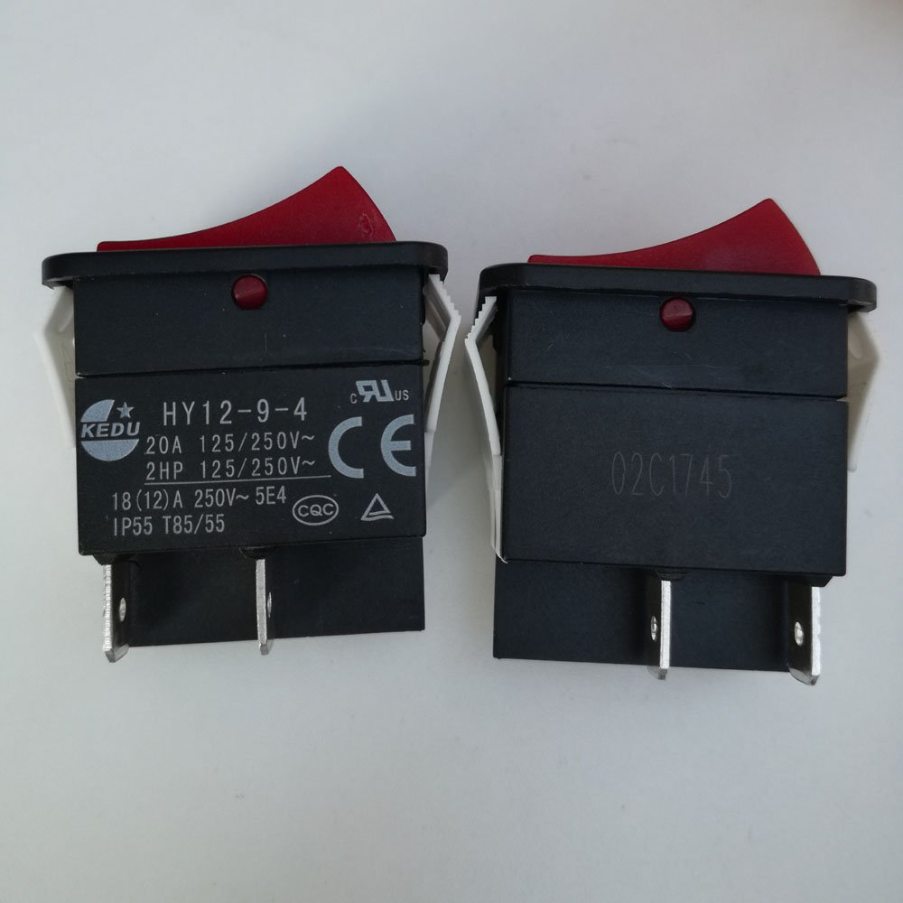 2pcs IP55, 18 (12) a 250 V 4pins Industrial soldador soldadura máquina Power On Off Rocker interruptores pulsador interruptor HY12 - 9-4: Amazon.es: ...
