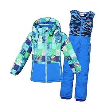 JINHONGH Traje de esquí for niñas Invierno Impermeable Niños ...