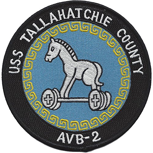 USS Tallahatchie County AVB 2 Tank Landing Ship Patch (Auxilary Tank)
