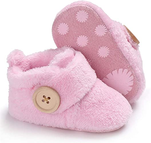 Newborn Baby Girl Boy Winter Soft Booties Snow Floor Shoes Prewalker Warm Shoes