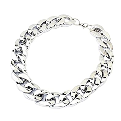 c99bbf16d8d8 Image Unavailable. Image not available for. Color  Necklace - TOOGOO(R)  Christmas Gift Chunky Curb Punk Fashion Shiny Link Chain Necklace