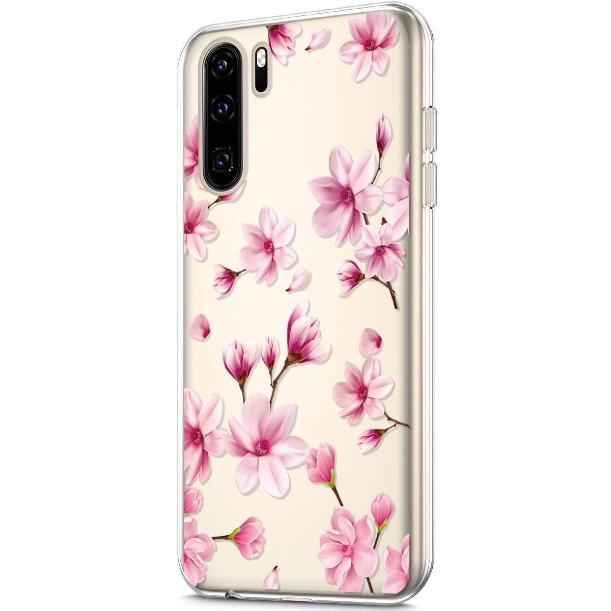 Funda Compatible con Huawei P30 Pro,Carcasa KunyFond Calidad Silicona Frame TPU Suave Simple Transparente Pintura Pintado Impresion Colores Flores Premium Vistoso Case Dura Dif/ícil Bumper,Mandala