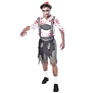 Oktoberfest Zombie Halloween Kostüm Herren Amscan Amazonde Bekleidung
