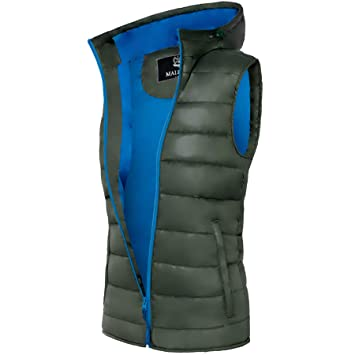 c1a227cb Malexxius Vest NERO, Jacket, Winter jacket, Hood, Daunenlook (MAL001 ...