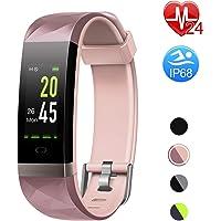 Letsfit Fitness Armband Farbbildschirm mit Pulsmesser, Fitness Tracker IP68 Wasserdicht 0,96 Zoll Aktivitätstracker Schrittzähler Pulsuhren Smart Watch Uhr für Herren Damen MEHRWEG