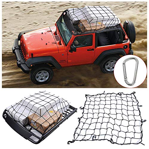 RT-TCZ 3.6'x3.6'Bungee Cargo Net Stretches to 7.2'x7.2',Small 4