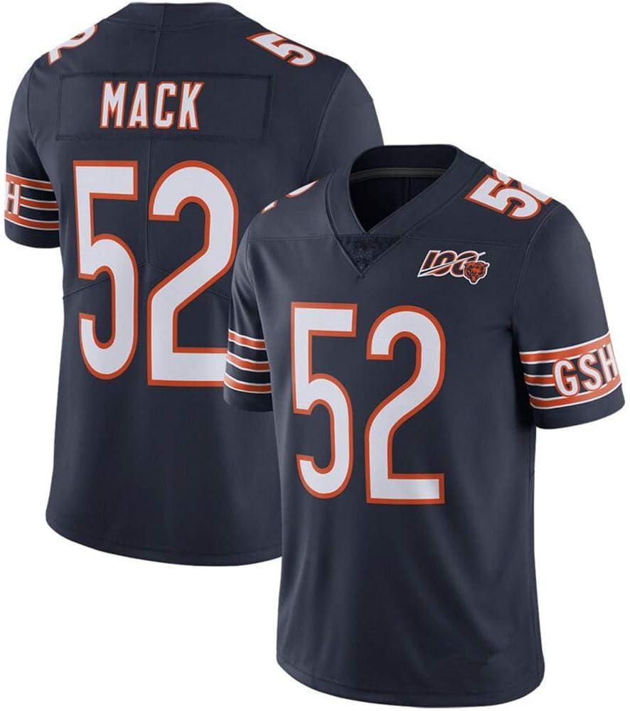 Jersey Basketball Trikot Jersey Khalil Mack Chicago Bears #52 Basketball Weste Shirt Basketball Anzug f/ür Herren,S