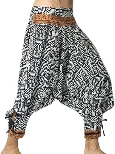 Pantalones de harén de algodón Gitano con pantalón Holgado ...