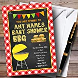 Country Bbq Invitations Baby Shower Invitations