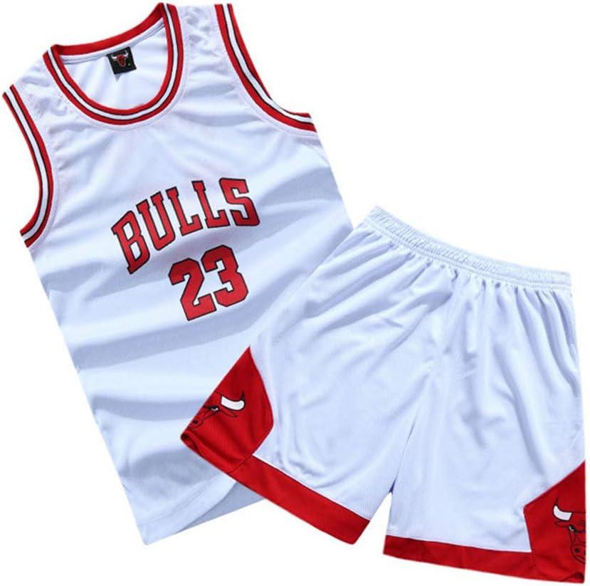 XCR Ni/ños Chicos Ni/ña Hombre Adulto NBA Michael Jordan # 23 Chicago Bulls Jersey Retro Swingman Pantalones Cortos de Baloncesto/&Camisetas Set Verano Uniformes Tops de Baloncesto