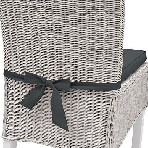 Beautissu Cuscino per sedie sfoderabile Pia per mobili da Giardino in Rattan o Legno trapezoidale 45x40x5cm Grigio