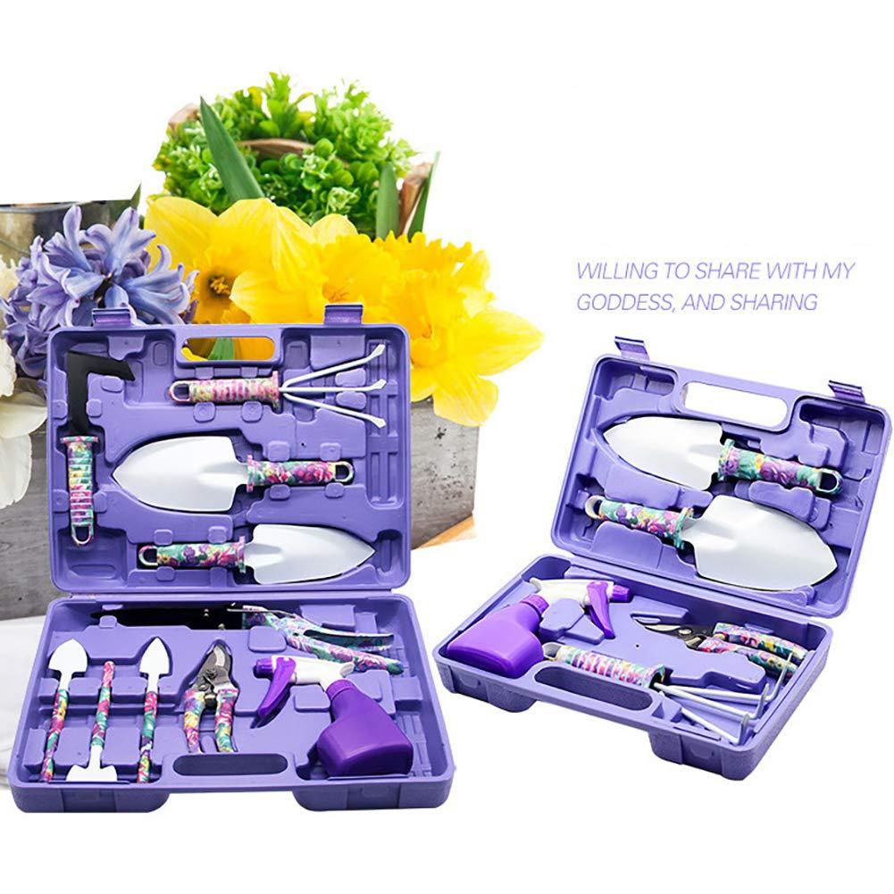 Outtybrave Lot de 5 Outils de Jardinage pour Plantes et Pots darrosage 5Pcs//Set Violet