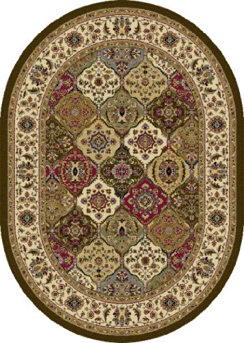 Universal Rugs Transitional Oriental 5 ft. 3 in. x 7 ft. 3 in. Oval Area Rug , Multi