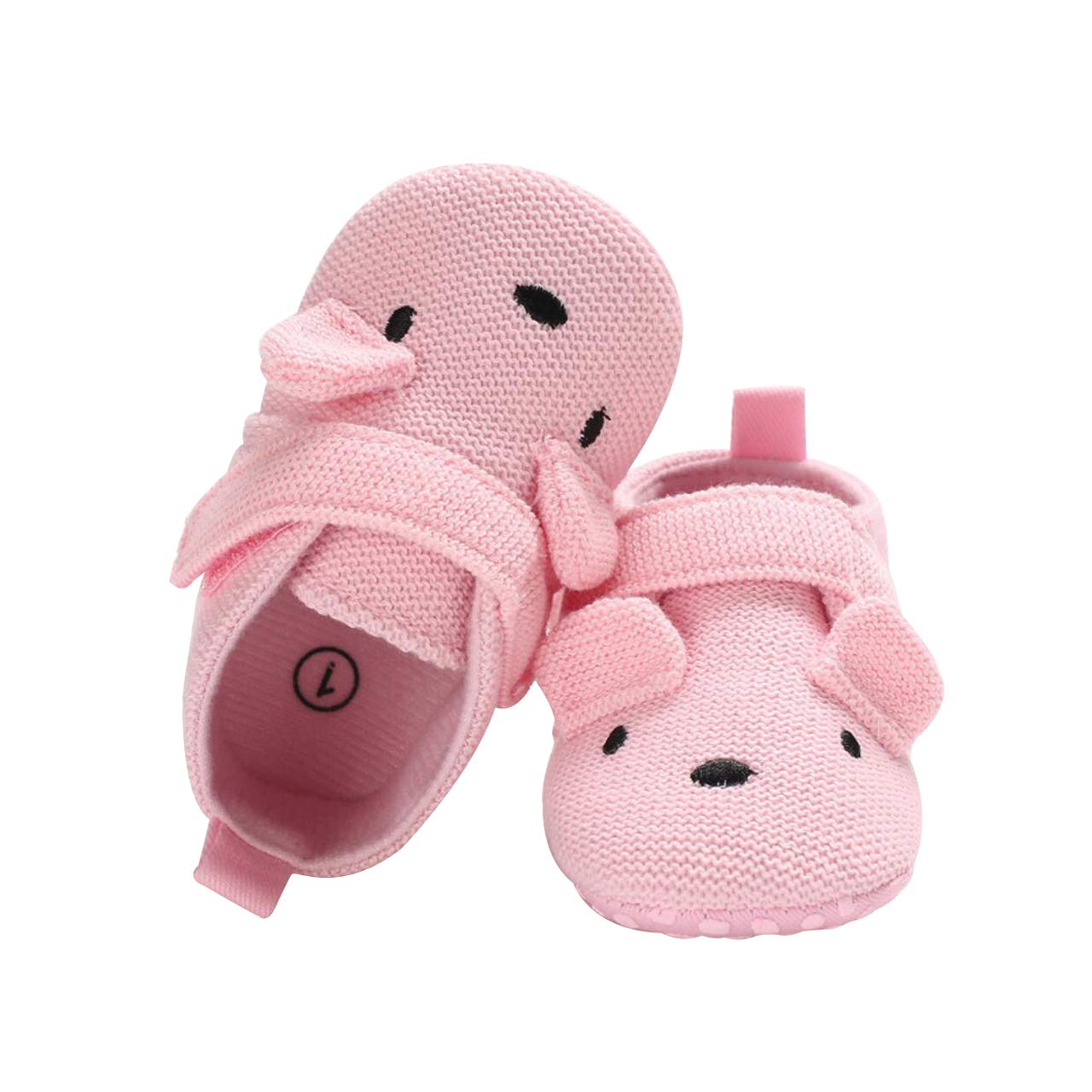 DEBAIJIA Baby Shoes Cotton Cloth Material Toddler Shoes Anti-Slip Animals Pattern Fashion Casual Prewalker Shoes Suitable for 6-36 Months Infant Slip-on Closure Sporty Trainers Unisex