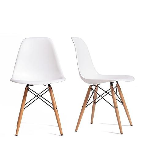 PACK 2 Sillas Eames DSW tower Style - Blanco - réplica de ...
