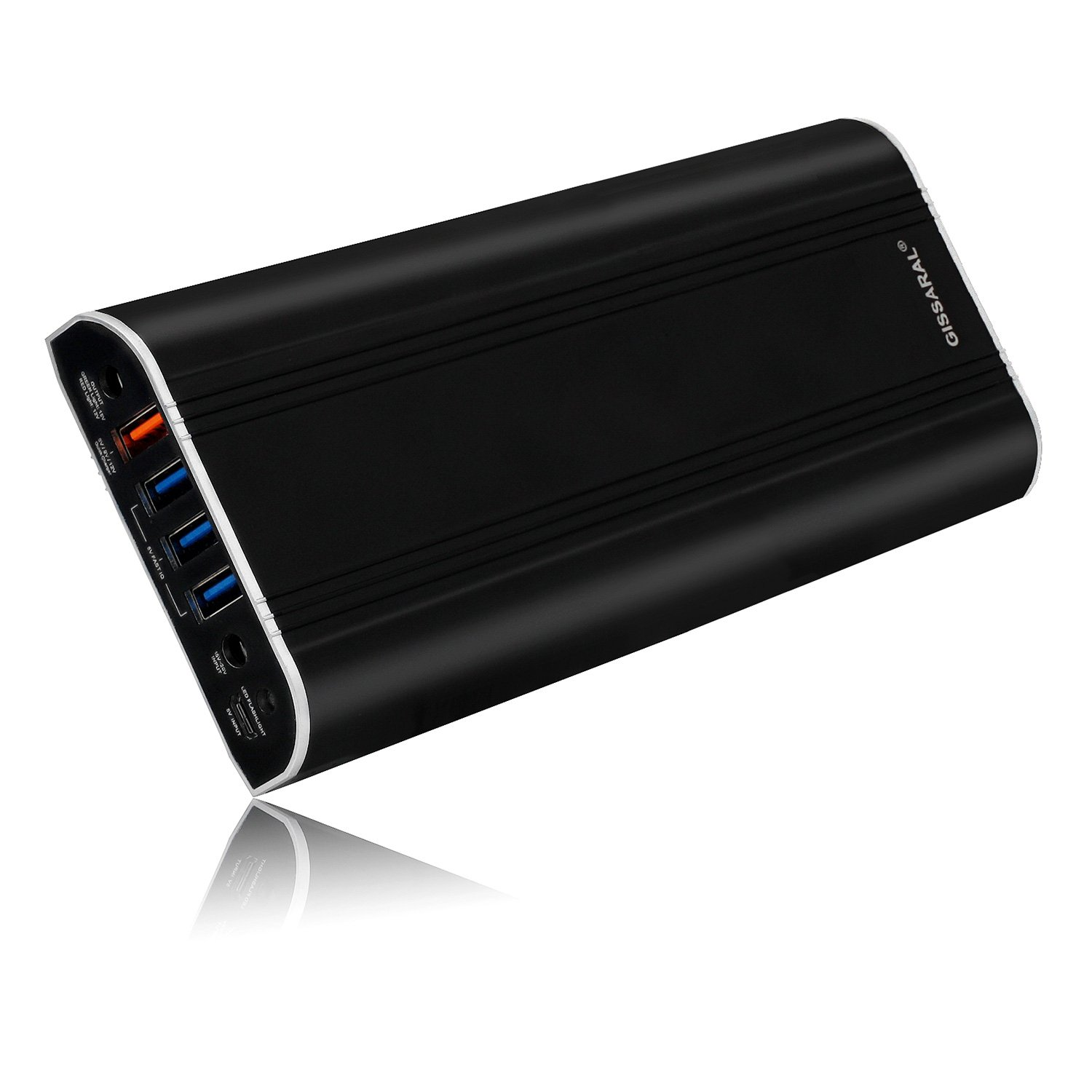 GISSARAL 35000mAh Power Bank Portable External Battery Charger for Surface Pro 4 Book Pro 3 Pro 2 RT, 4 USB Ports Quick Charge for Tablets or Smartphones -Black by GISSARAL