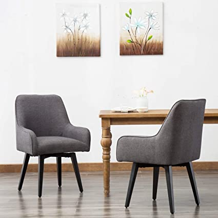 Surprising Swivel Desk Chair Upholstered Home Office Chair Task Chair Dark Grey Pack Of 2 Download Free Architecture Designs Scobabritishbridgeorg