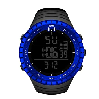 e8874dc71da SENORS Sports Watch Mens Digital Watch Waterproof Outdoor Wrist Watch LED  Electric Army Military Watch with