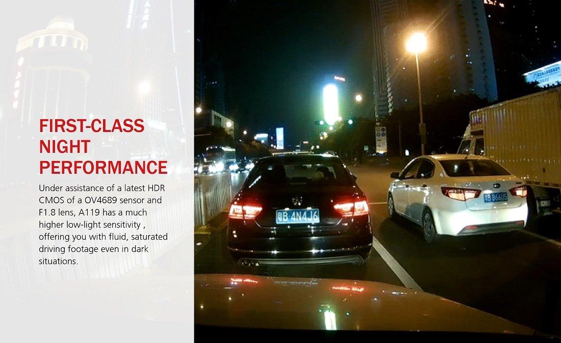 Spy Tec A119SNOGPS Car DashCam 60fps 1080p Sony IMX291 G-Sensor 135 Degree Wide-Angle Lens Loop Recording