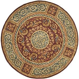 Empire Safavieh colección EM421A hecha a mano de color granate y oro fanmai alfombra redonda, 91,44 cm 15,24 cm