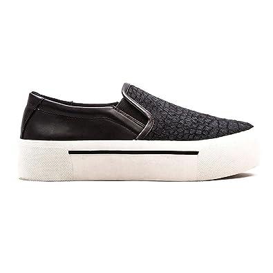 50cf4872dcb DKNY Donna Karan Women s Bess Platform Black Croc Sneakers Shoes Sz  7.5