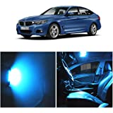 E46 M3 convertible 1999-2005 WLJH 10pieces Ice Blue Super Bright 2835 Chip Bulb lighting Error Free Canbus Car light Package for 3 Series Tag Lts