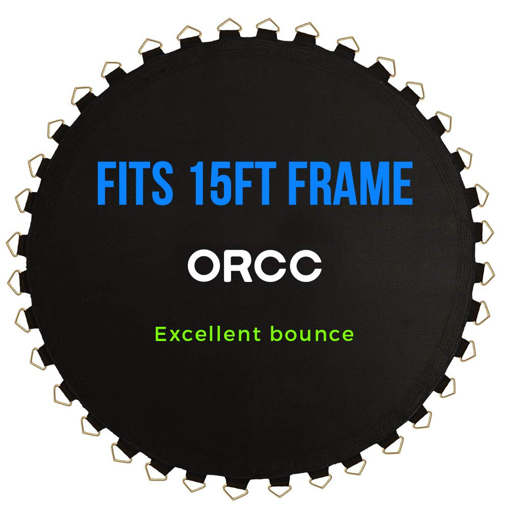 ORCC Trampoline Jumping Mat Fits 15FT Frames has 108 V-Rings Fits 7'' Springs,Excellent Bounce,Waterproof Surface, UV-Resistant and Fade-Resistant by ORCC