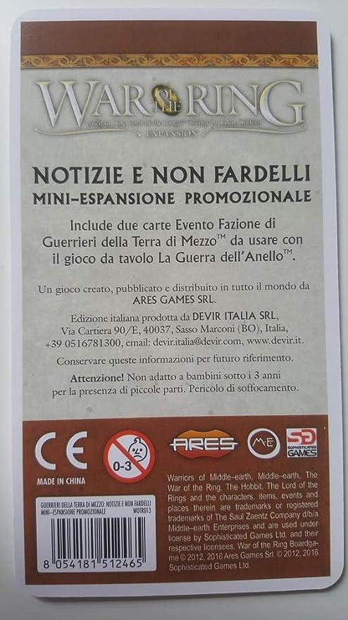 stile distintivo prezzo migliore check-out LA Guerra DELL'ANELLO : NOTIZIE E Non FARDELLI Carte Promo ...