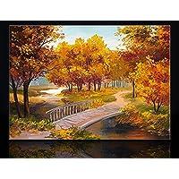 Arte Deko Yağlıboya Sonbahar Orman Kanvas Tablo, 40x60