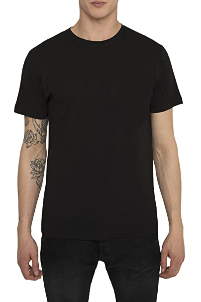 4d9942b13 Camisetas Basicas para Hombre, Camiseta Lisa Negra, Blanca Algodón ...