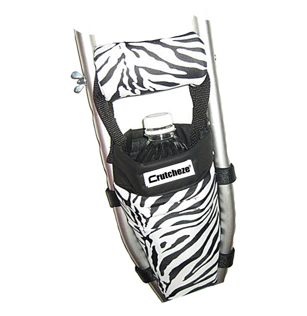 Crutcheze Zebra Crutch Bag, Pouch, Pocket, Tote Washable Designer Fashion Orthopedic Products Accessories
