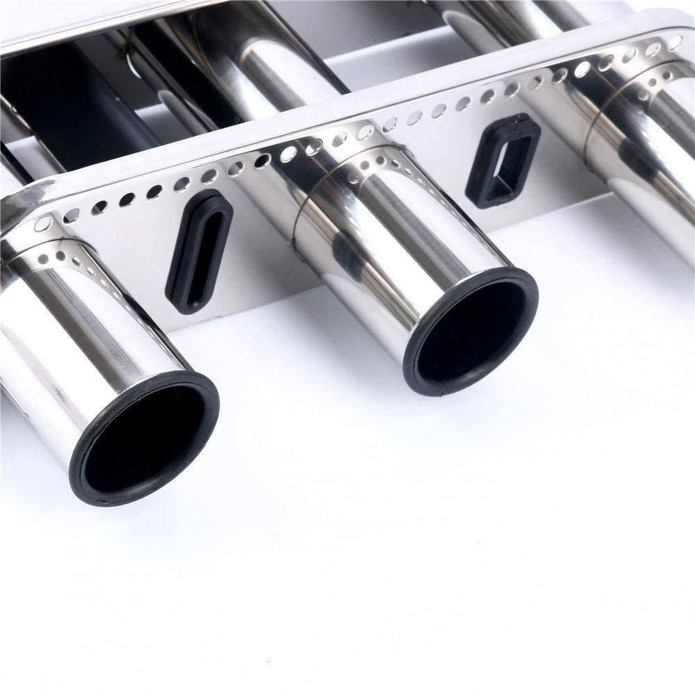 Amarine-made Stainless Fishing Rod Storage Holder Rack /& Boat Organiser 3 vertical rod holders